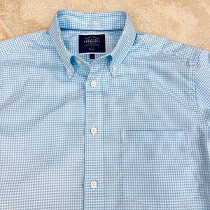 New! Men's Slim Check Dress Shirt! Small
